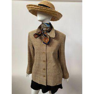 Gold Tweed Jacket Size 14